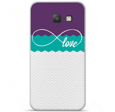 Coque en silicone pour Samsung Galaxy A5 2016 - Love Violet