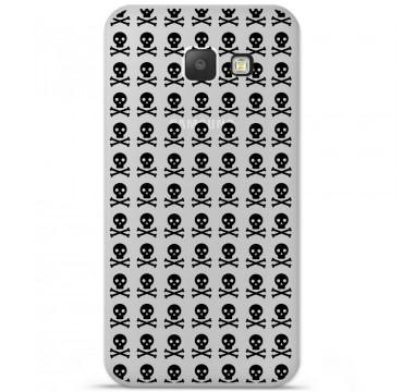 Coque en silicone pour Samsung Galaxy A5 2016 - Skull Noir
