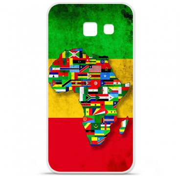 Coque en silicone pour Samsung Galaxy A5 2016 - Drapeau Africa Unite