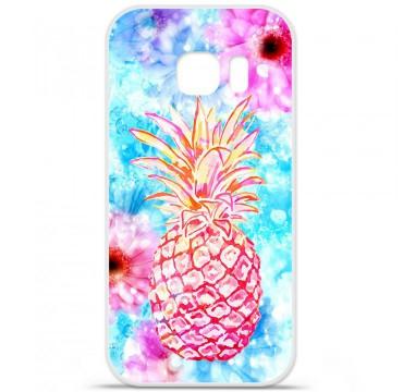 Coque en silicone pour Samsung Galaxy S7 - Ananas