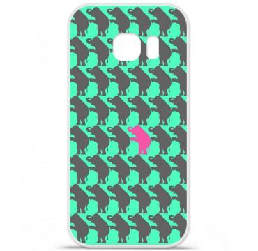 Coque en silicone pour Samsung Galaxy S7 - Elephant