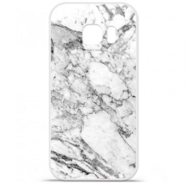 Coque en silicone pour Samsung Galaxy S7 - Marbre Blanc
