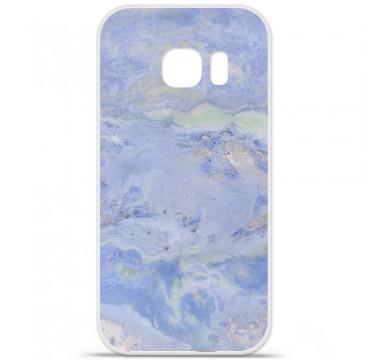 Coque en silicone pour Samsung Galaxy S7 - Marbre Bleu