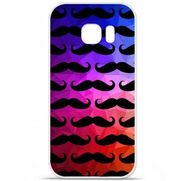 Coque en silicone pour Samsung Galaxy S7 - Moustache