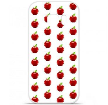 Coque en silicone pour Samsung Galaxy S7 - Pomme Blanc