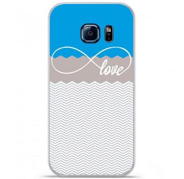 Coque en silicone pour Samsung Galaxy S7 - Love Bleu