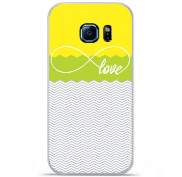 Coque en silicone pour Samsung Galaxy S7 - Love Jaune