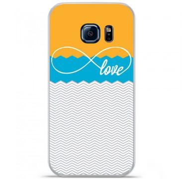 Coque en silicone pour Samsung Galaxy S7 - Love Orange