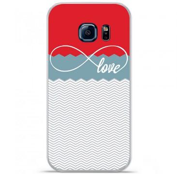 Coque en silicone pour Samsung Galaxy S7 - Love Rouge