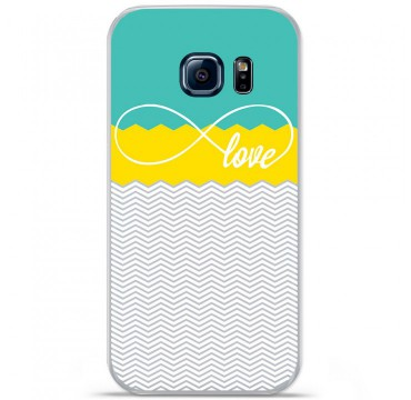 Coque en silicone pour Samsung Galaxy S7 - Love Turquoise