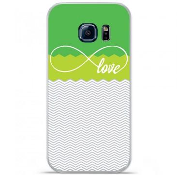Coque en silicone pour Samsung Galaxy S7 - Love Vert