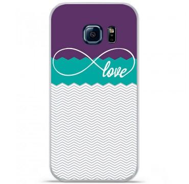 Coque en silicone pour Samsung Galaxy S7 - Love Violet