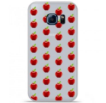 Coque en silicone pour Samsung Galaxy S7 - Pommes Gris