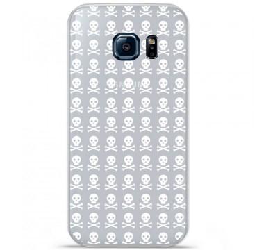 Coque en silicone pour Samsung Galaxy S7 - Skull blanc