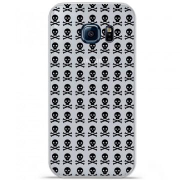 Coque en silicone pour Samsung Galaxy S7 - Skull Noir