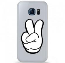 Coque en silicone Samsung Galaxy S7 - Swag Hand Blanc