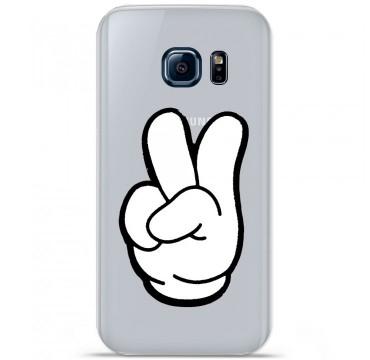 Coque en silicone pour Samsung Galaxy S7 - Swag Hand Blanc