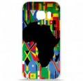 Coque en silicone pour Samsung Galaxy S7 - Drapeau Afrique
