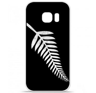 Coque en silicone pour Samsung Galaxy S7 - Drapeau All-black