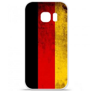 Coque en silicone pour Samsung Galaxy S7 - Drapeau Allemagne