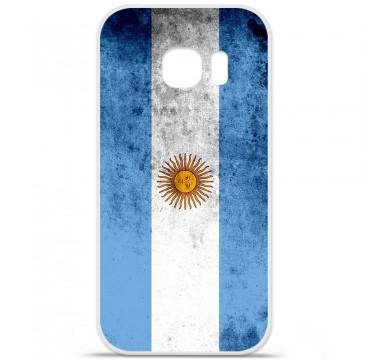 Coque en silicone pour Samsung Galaxy S7 - Drapeau Argentine