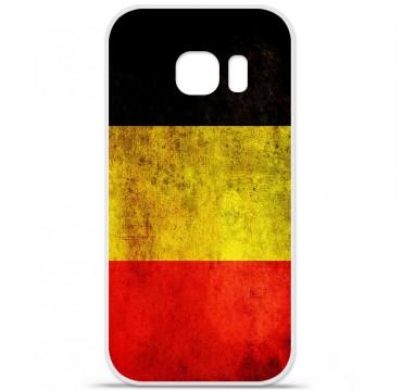 Coque en silicone pour Samsung Galaxy S7 - Drapeau Belgique