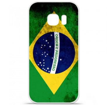 Coque en silicone pour Samsung Galaxy S7 - Drapeau Brésil