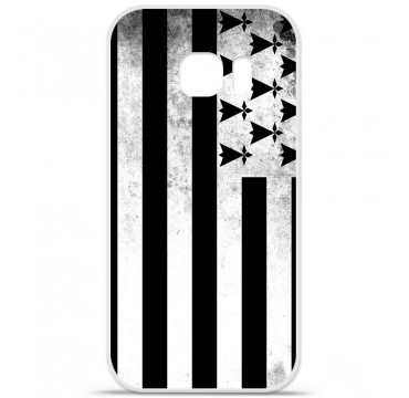 Coque en silicone pour Samsung Galaxy S7 - Drapeau Bretagne