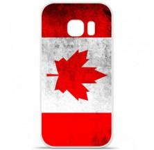 Coque en silicone Samsung Galaxy S7 - Drapeau Canada