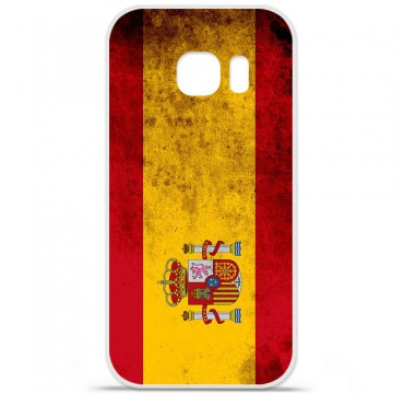 Coque en silicone pour Samsung Galaxy S7 - Drapeau Espagne