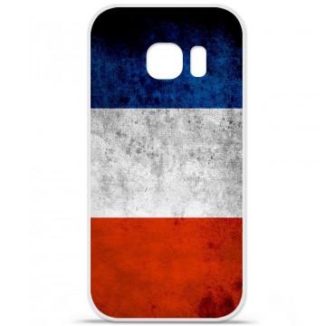 Coque en silicone pour Samsung Galaxy S7 - Drapeau France