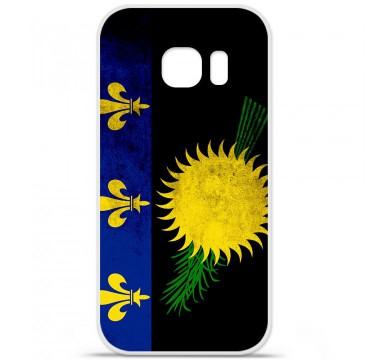 Coque en silicone pour Samsung Galaxy S7 - Drapeau Guadeloupe