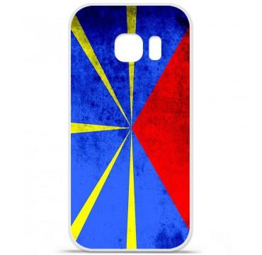Coque en silicone pour Samsung Galaxy S7 - Drapeau La Réunion