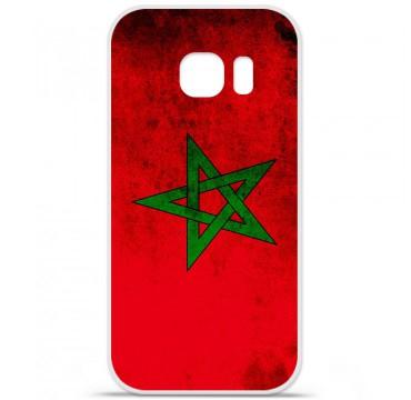 Coque en silicone pour Samsung Galaxy S7 - Drapeau Maroc