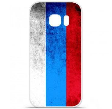 Coque en silicone pour Samsung Galaxy S7 - Drapeau Russie