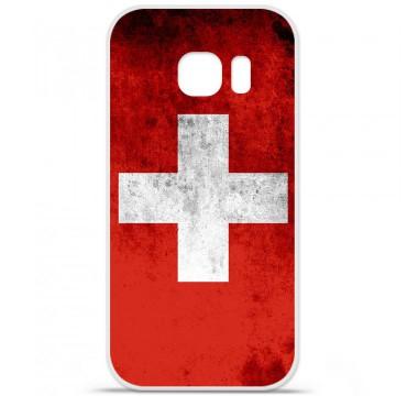 Coque en silicone pour Samsung Galaxy S7 - Drapeau Suisse