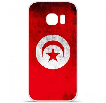 Coque en silicone pour Samsung Galaxy S7 - Drapeau Tunisie