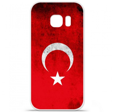 Coque en silicone pour Samsung Galaxy S7 - Drapeau Turquie