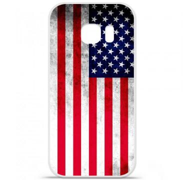 Coque en silicone pour Samsung Galaxy S7 - Drapeau USA