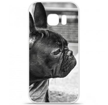 Coque en silicone pour Samsung Galaxy S7 - Bulldog
