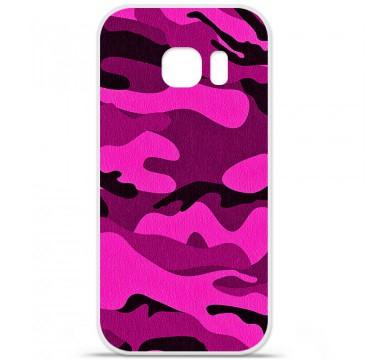 Coque en silicone pour Samsung Galaxy S7 - Camouflage rose