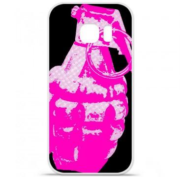 Coque en silicone pour Samsung Galaxy S7 - Grenade rose