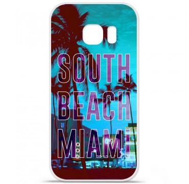 Coque en silicone pour Samsung Galaxy S7 - South beach miami