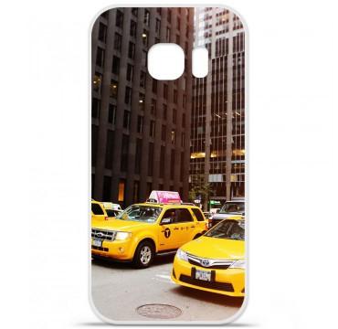 Coque en silicone pour Samsung Galaxy S7 - NY Taxi