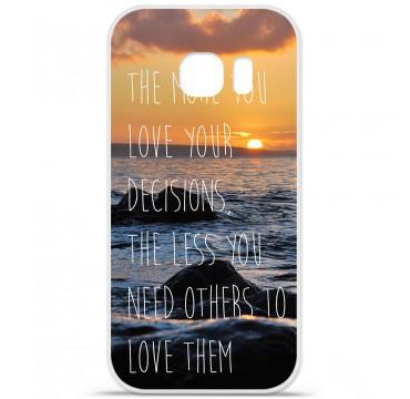 Coque en silicone pour Samsung Galaxy S7 - Sunshine
