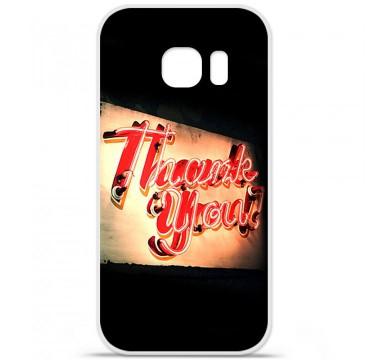 Coque en silicone pour Samsung Galaxy S7 - Thank You