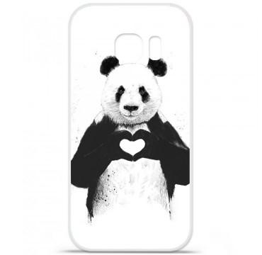 Coque en silicone pour Samsung Galaxy S7 - BS Love Panda