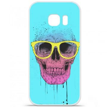 Coque en silicone pour Samsung Galaxy S7 - BS Skull glasses