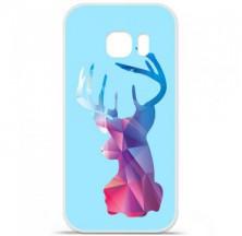 Coque en silicone Samsung Galaxy S7 Edge - Cerf Hipster Bleu