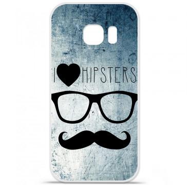 Coque en silicone pour Samsung Galaxy S7 Edge - I Love Hipster